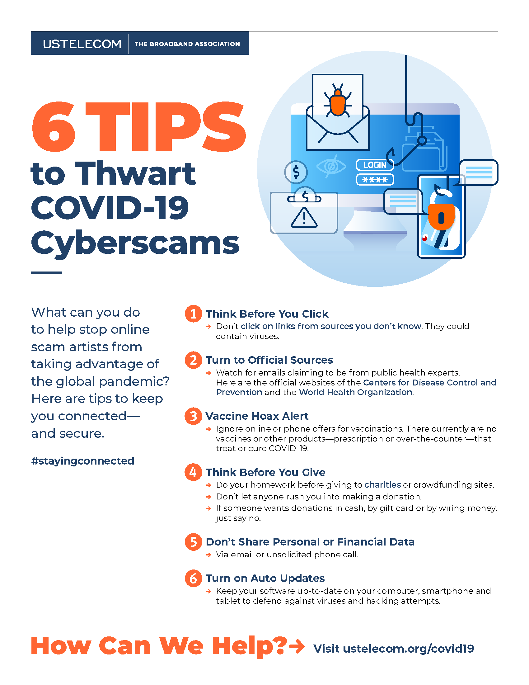 6 Tips to Thwart COVID-19 Cyberscams